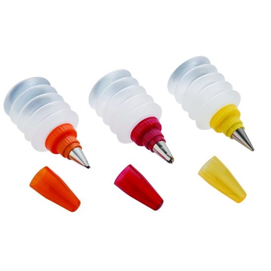 Set de 4 flacons de décoration - contenance 100ml - 120*55mm