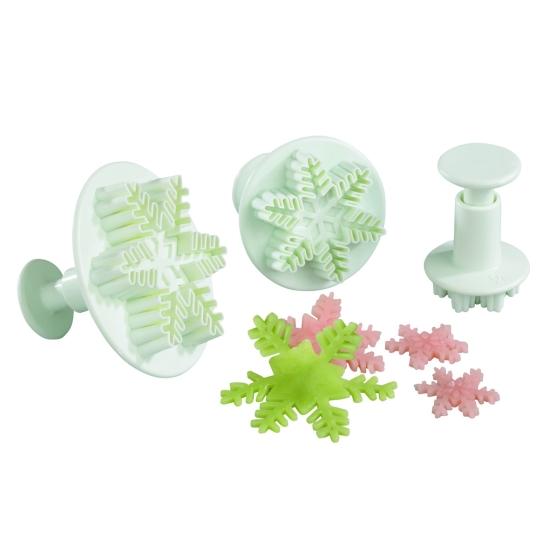 Découpoir plastique Empreinte + Poussoir Etoile des neiges