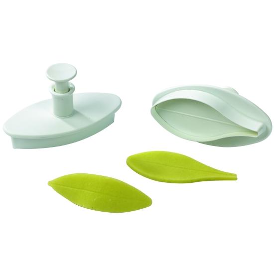 Découpoir plastique Empreinte + Poussoir Feuille ou Pétale