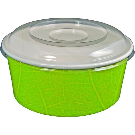 Bol Salade en carton vert 610 ml - 50 unités