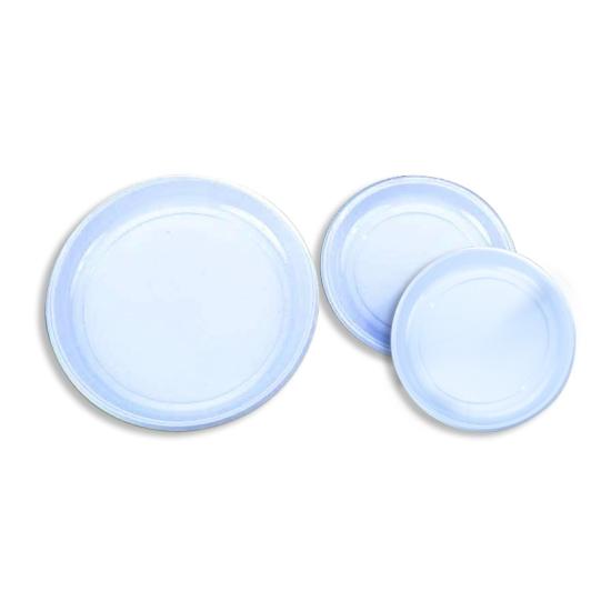 Assiette ronde plastique - 100 unités