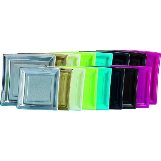 Assiette carrée plastique