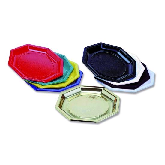 Assiette octogonale plastique