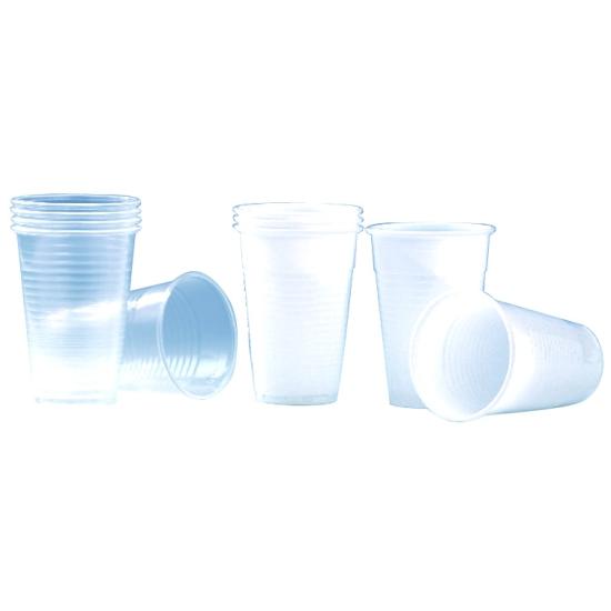 Gobelet plastique blanc- 100 unités