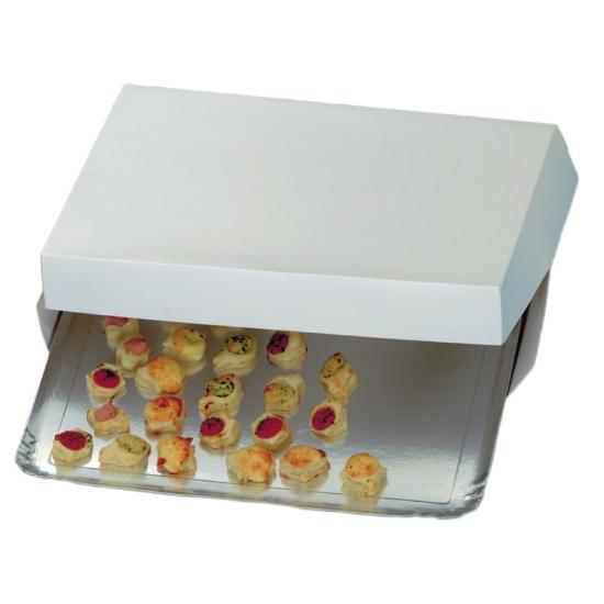 Boite carton blanc pour Plateau traiteur