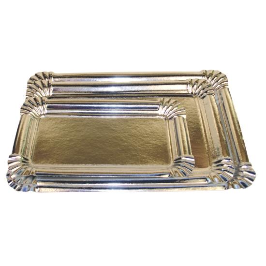 Plateau rectangle métallisé - 50 unités