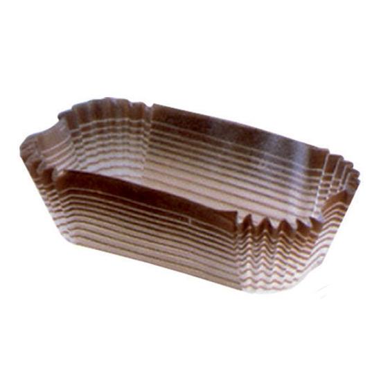 """Caissettes """"MF"""" ovales décorées mille raies- papier sulfurisé - 1000 unités"""