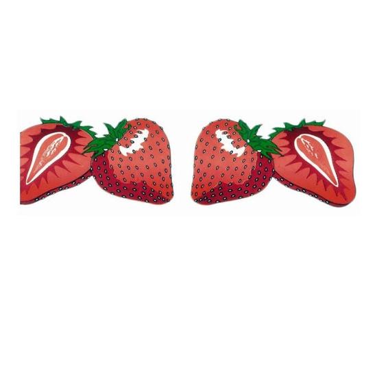 Ruban PVC imprimé fraise