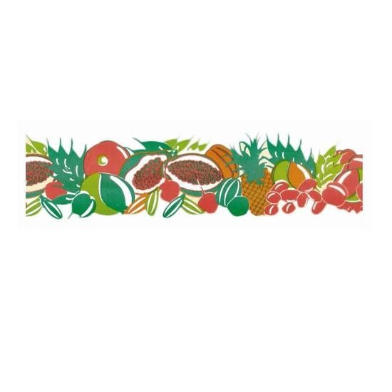 Ruban PVC imprimé fruits exotiques