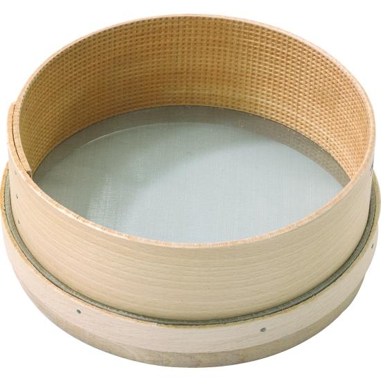 Tamis bois double toile inox diamètre 25 cm