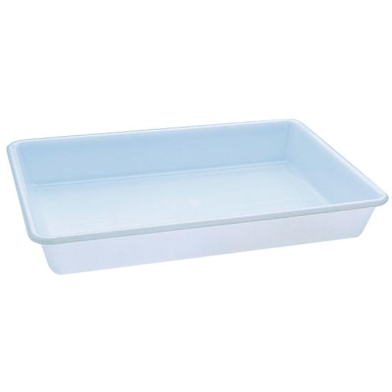 Bac rectangulaire plat plastique - plusieurs dimensions