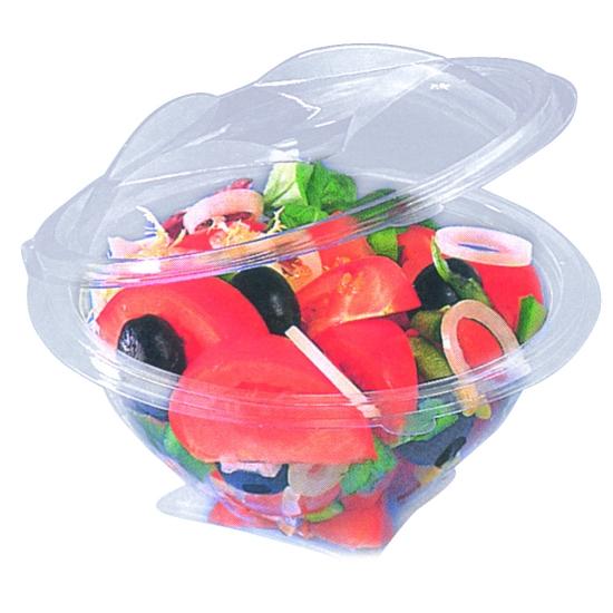 """Bol à salade Cristal APET """"Sekipack"""" pour utilisation froide - sachet de 50 ou 100 unités"""