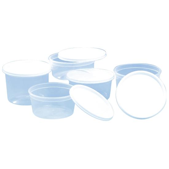 Pot plastique translucide - 100 unités