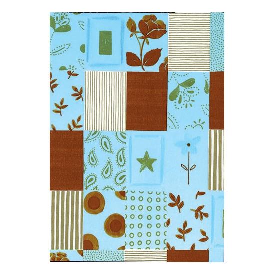Papier cadeau turquoise/chocolat