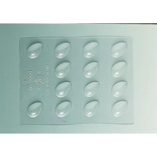 Plaque Pâques PM - 14 demi-coquilles craquelées