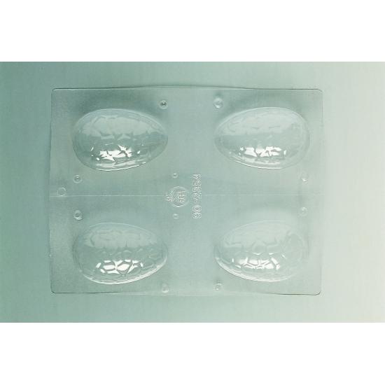 Plaque Pâques PM - 4 demi-coquilles craquelées