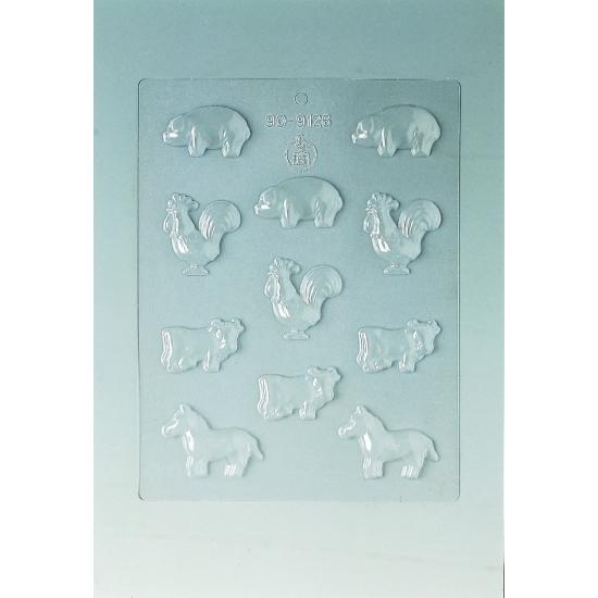 Plaque Divers - 11 animaux