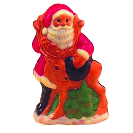 Moule polycarbonate pour chocolat 21 - Père Noël et son cerf