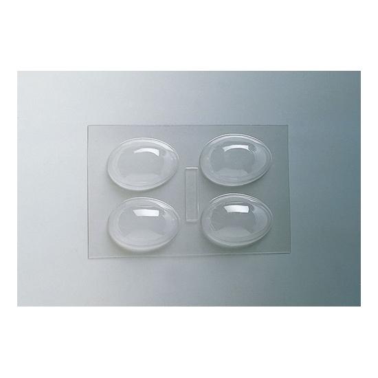 Plaque Pâques PM - 4 demi-coquilles unies