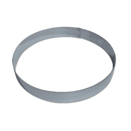 """Cercle inox """"Mousse""""hauteur 4 cm"""