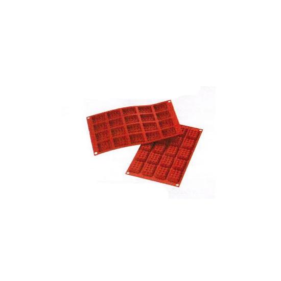 "SF147 - Moules flexibles ""Silicon Flex"": 20 mini gauffres rectangles"