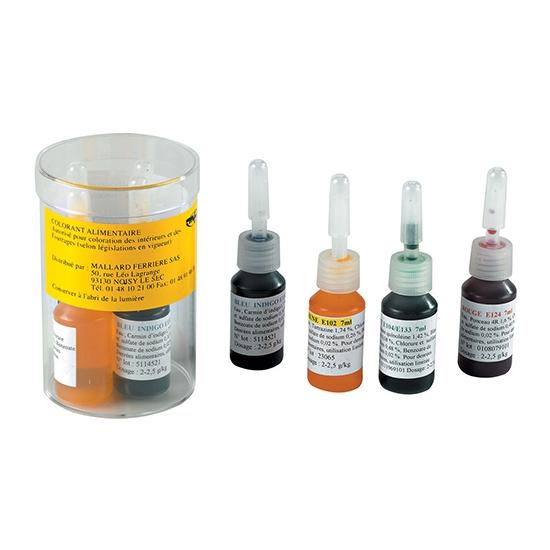 Boite de 4 Colorants Liquides Alimentaires