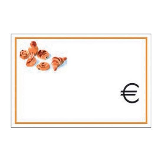 Etiquette décorée 6.5 X 4.5 cm - 10 unités
