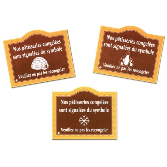 Pancarte Produits décongelés - 20 X 15 cm