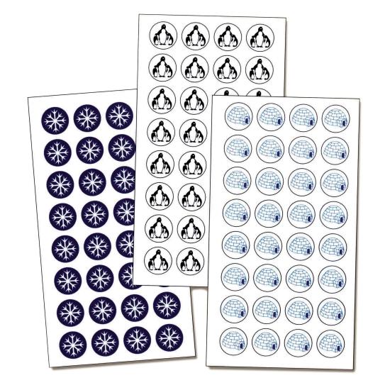 Adhésifs pour Pancarte Produits décongelés - 128 Adhésifs