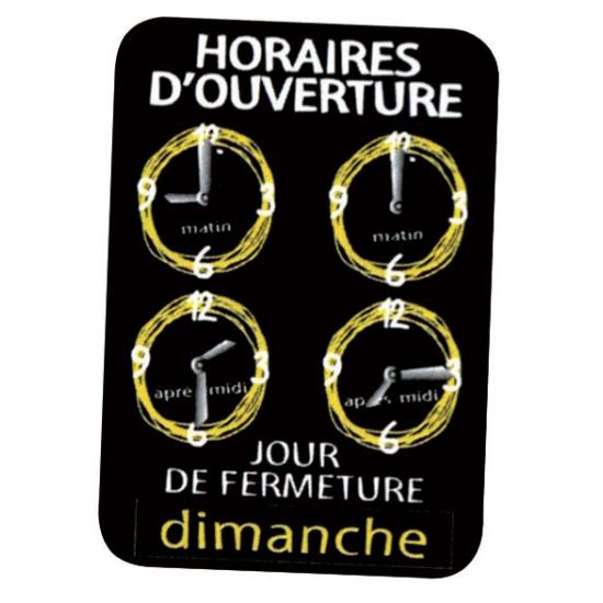 Pancarte Horloge (dupliqué)