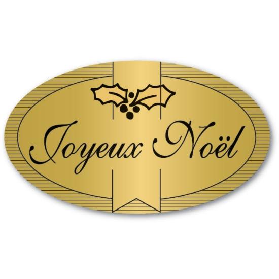 Etiquettes adhésives Joyeux Noel - Boite distributrice de 500 étiquettes adhésives