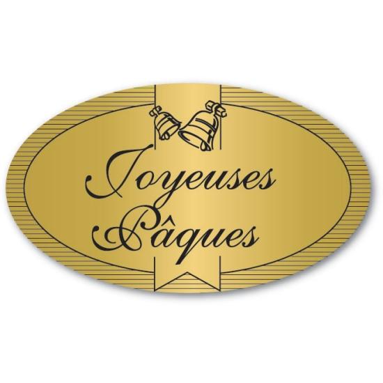 Etiquettes adhésives Joyeuses Pâques - Boite distributrice de 500 étiquettes adhésives