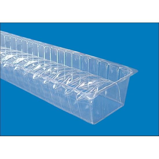 Gouttières à bûche plastique Torsade - paquet de 12