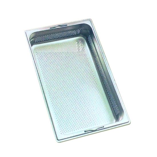 Bac gastronorme inox sans poignées perforé 1/1 - 53 X 32.5 cm