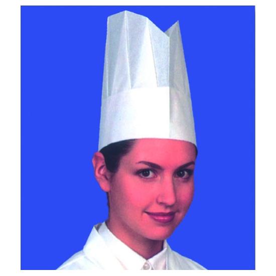 """Toque de chef papier """"taille réglable"""" - 10 unités"""