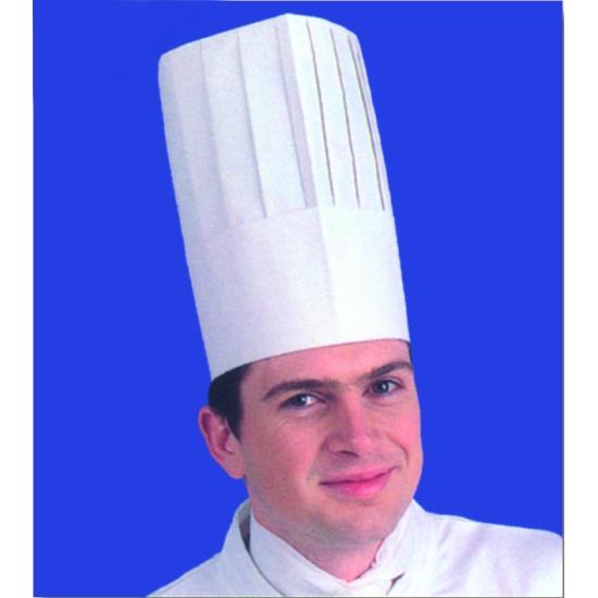 """Toque de chef papier 2 """"taille réglable"""" - 10 unités"""