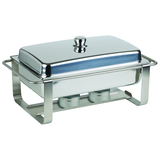 Chafing dish avec couvercle inox