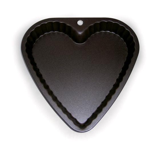 Moule à manqué coeur anti adhésif cannelé