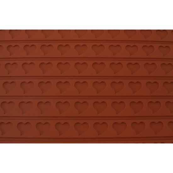 Tapis relief silicone coeur