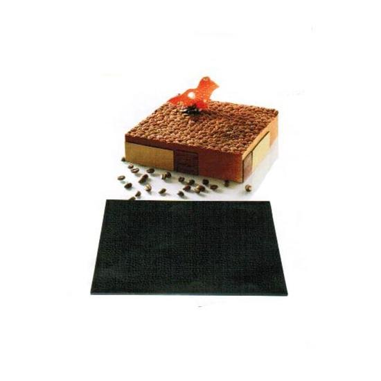 Tapis relief silicone grains de café-Silikomart