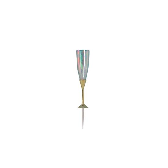 Sujets plastique - Flûte à champagne sur pique