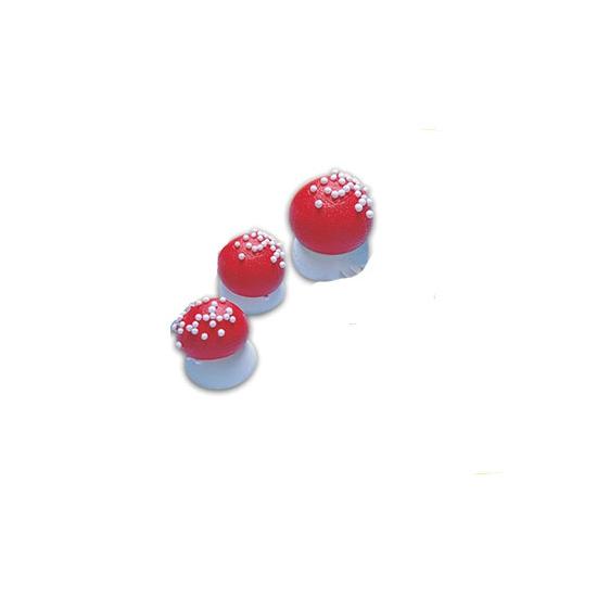 Sujets sucre - Champignons sucre Rouge petit modèle