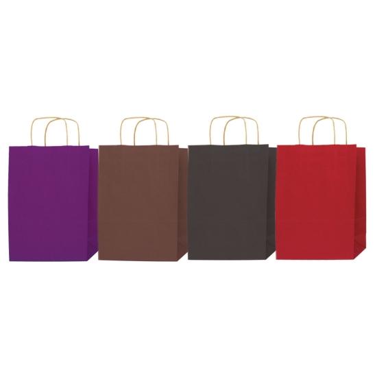 Sac cabas papier kraft couleur - P/50