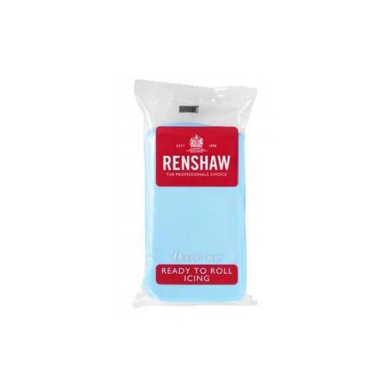 Pâte à sucre prête à l'emploi de couleur baby blue - 250 grammes