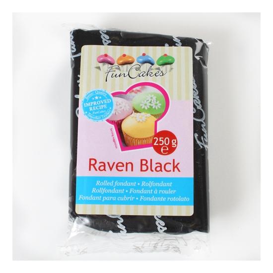 FunCakes Fondant Noir -Raven Black-  Halal / Casher