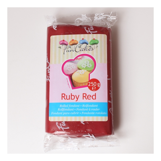 FunCakes Fondant Rouge -Ruby Red-  Halal / Casher