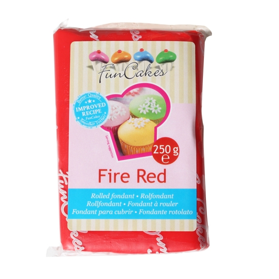 FunCakes Fondant Fire Red Halal / Casher