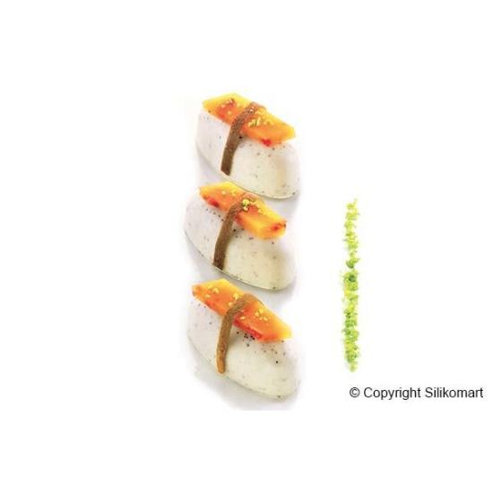 Moule silicone 16 sushis Nigiri - 16x28 ml