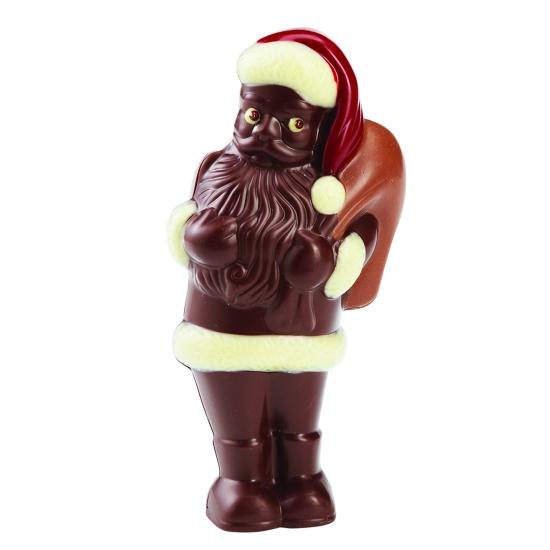 Moule polycarbonate chocolat père-Noël debout
