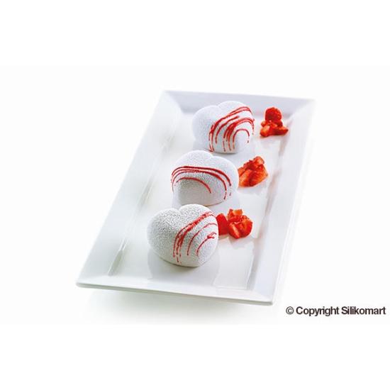 Moule en silicone 3D  -  CUORICINO - 8x100ml